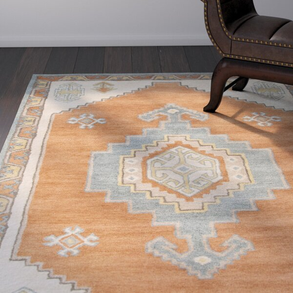 Kimmie Hand-Tufted Red/Blue Area Rug by Bloomsbury Market