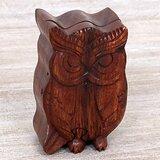 Serious Owl Wood Jewellery Box