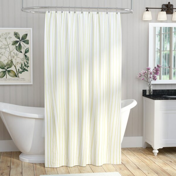 Cotton Shower Curtain by August Grove