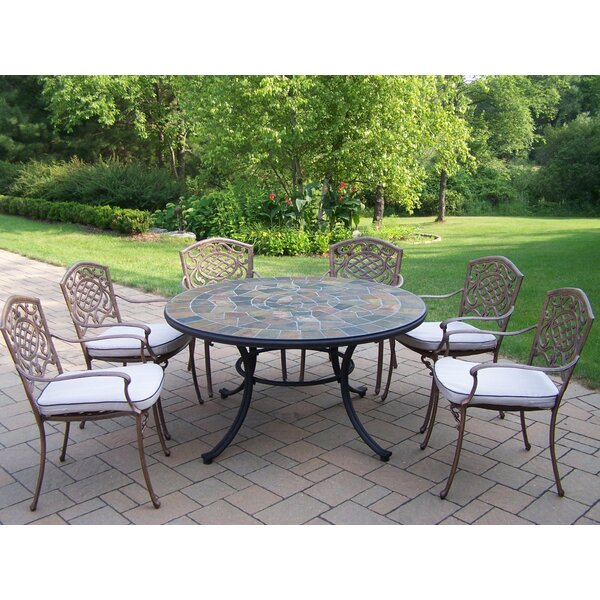 Neche 7 Piece Dining Set with Cushions by Winston Porter