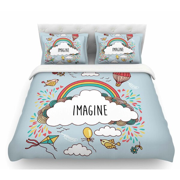 Imagine  Fantasy Illustration Featherweight Duvet Cover by East Urban Home