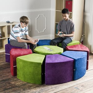Jaxx Octagon Arrangement 9 Piece Soft Seating