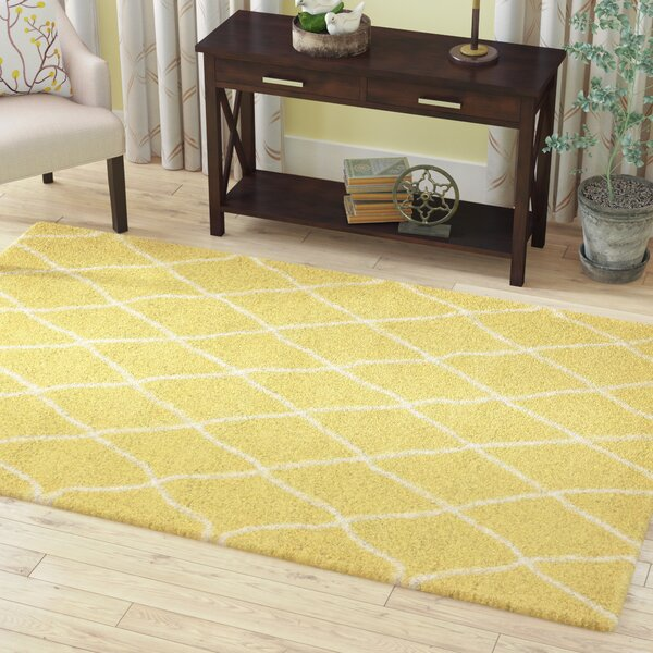 Cynthiana Yellow Area Rug by Red Barrel Studio
