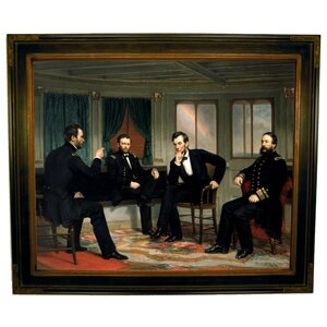 'The Peacemakers 1868 Sherman, Grant, Lincoln' by George P.A. Healy Framed Painting Print by Historic Art Gallery