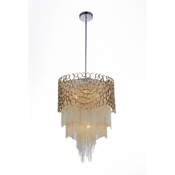 Baney 4-Light Unique / Statement Tiered Chandelier by House of Hampton House of Hampton
