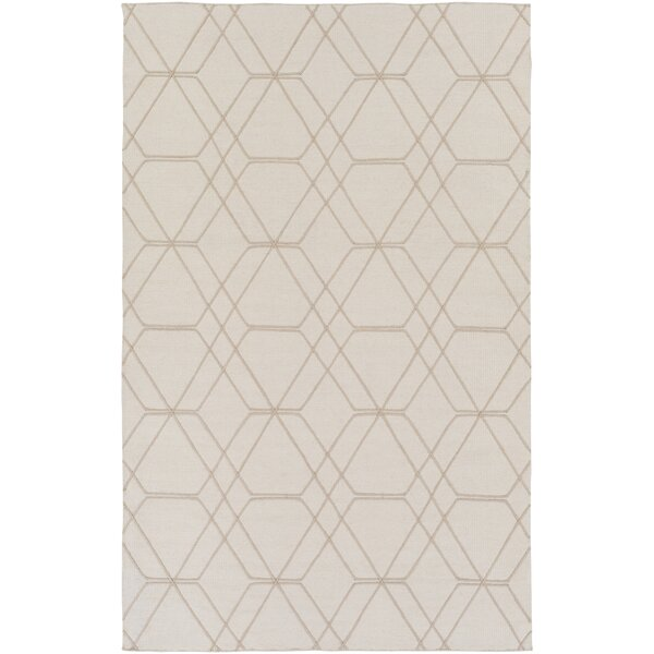 Robin Hand-Woven Cream Area Rug by Charlton Home