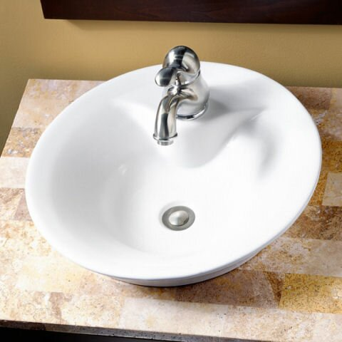 Ceramic Circular Vessel Bathroom Sink by American