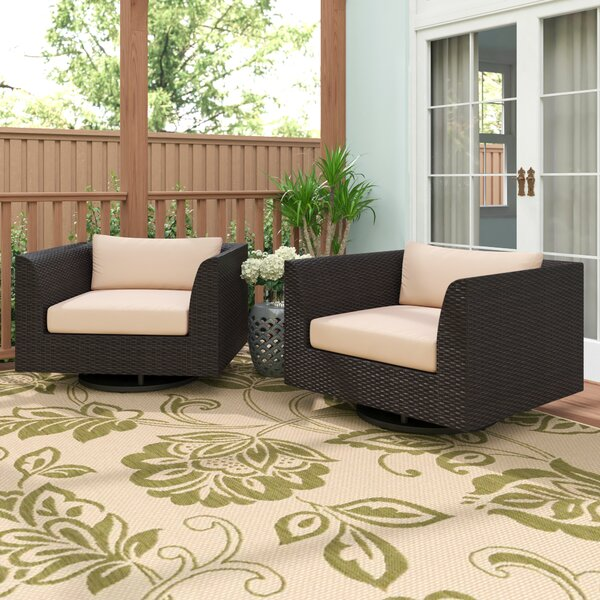 Tegan Swivel Patio Chair with Cushions by Sol 72 Outdoor