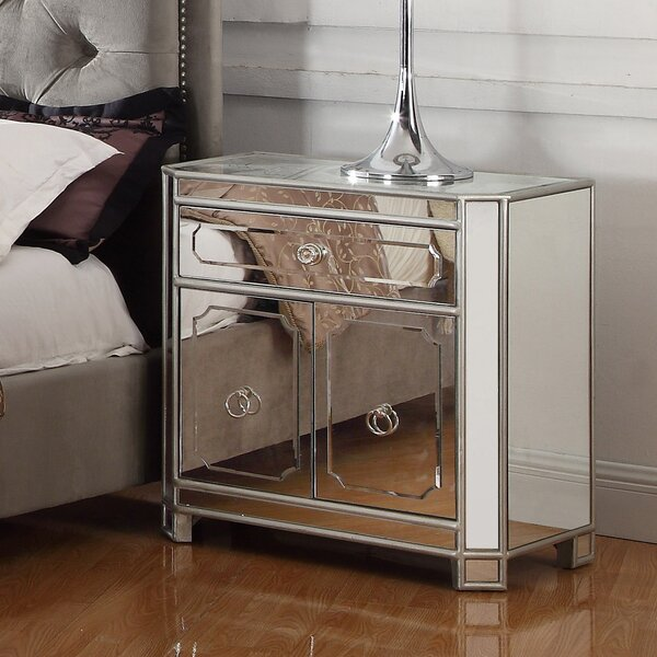 Reardon 1 Drawer Nightstand by Rosdorf Park