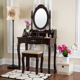 Sarcoxie Vanity Set with Mirror by House of Hampton