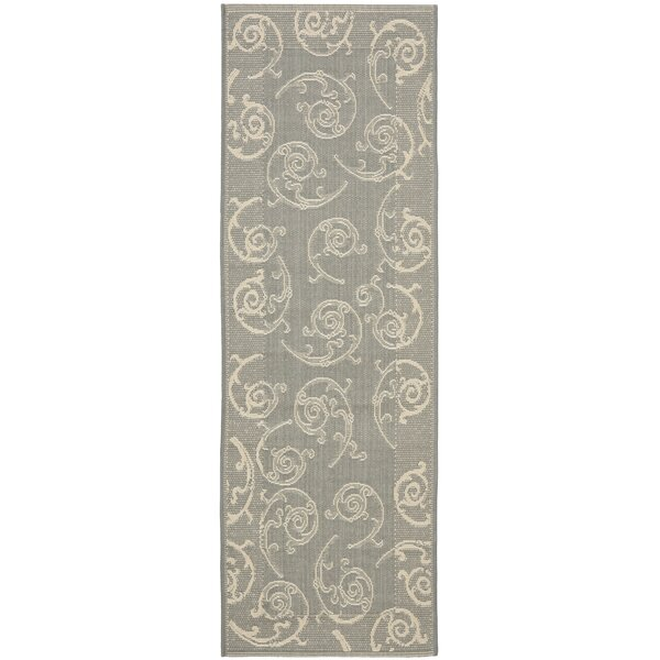 Herefordshire Paisley Gray Indoor/Outdoor Area Rug