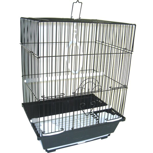 Flat Top Small Parakeet Cage with Food Access Door by YML