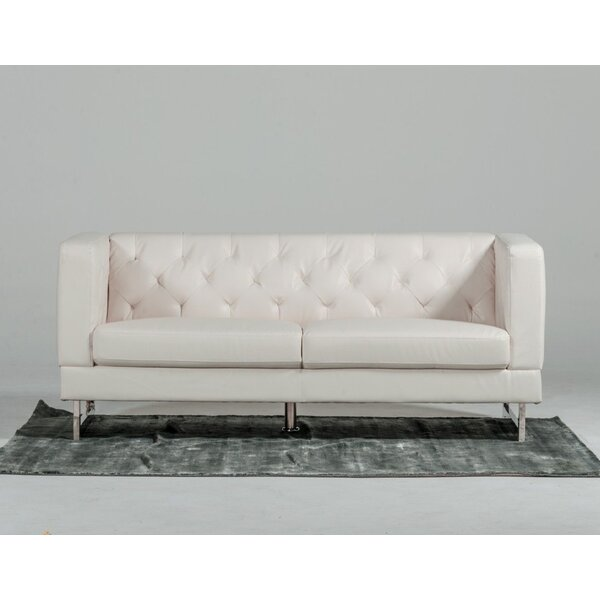 Modern Tufted Eco-Leather Loveseat By VIG Furniture