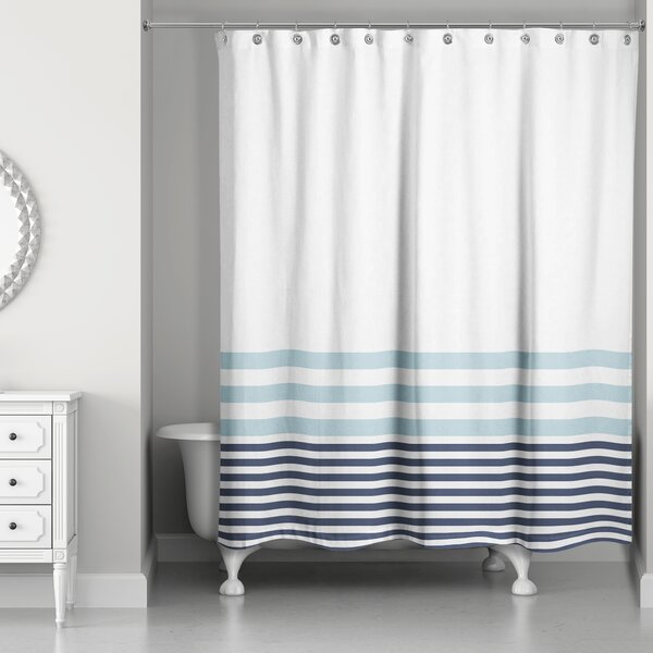 Qu Stripes Shower Curtain by Longshore Tides