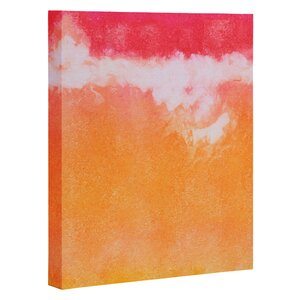 'Tangerine Tie Dye' Painting Print on Canvas by East Urban Home