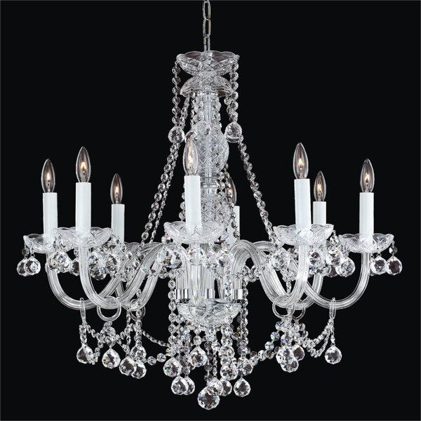 Crystal Palace 8-Light Candle Style Classic / Traditional Chandelier By Glow Lighting