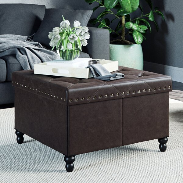 Darion Tufted Storage Ottoman by Charlton Home