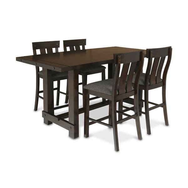 Frisco 5 Piece Counter Height Solid Wood Dining Set by New Classic