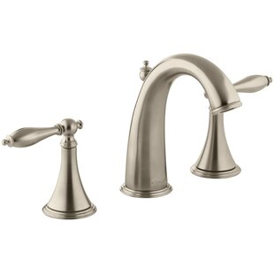 Finial Widespread Bathroom Faucet with Drain Assembly by Kohler
