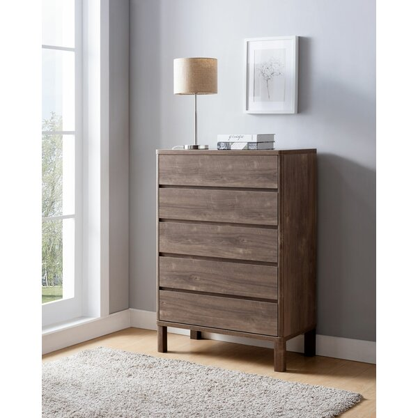Carty 5 Drawer Standard Dresser by Foundry Select