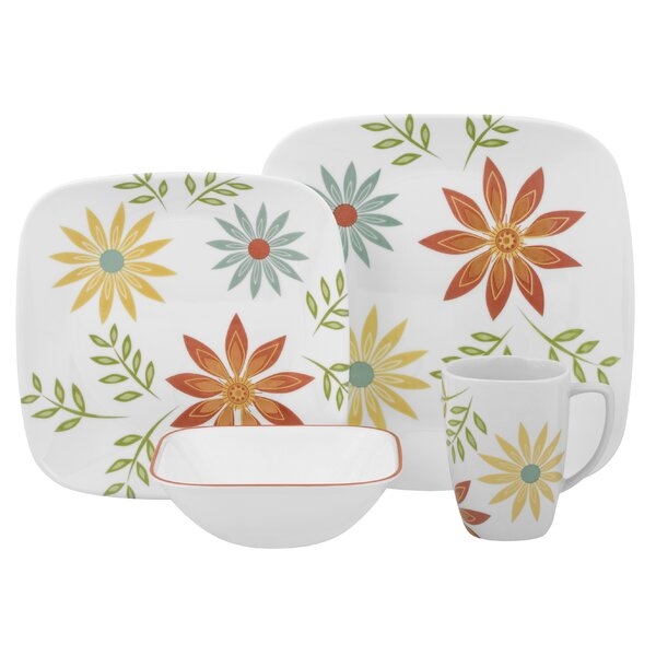 Happy Days 16 Piece Dinnerware Set, Service for 4