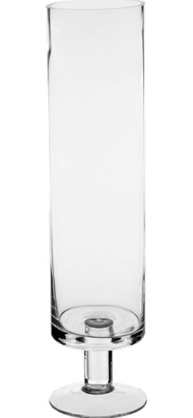 Pedestal Glass Hurricane (Set of 12) by CYS-Excel