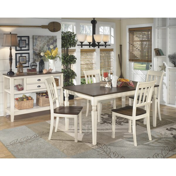Leamont 5 Piece Solid Wood Dining Set by Rosecliff Heights