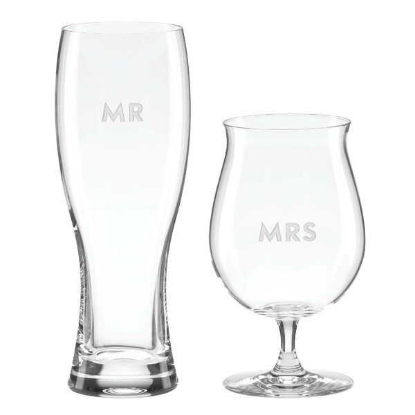 Darling Point 2 Piece Beer Glass Set by kate spade