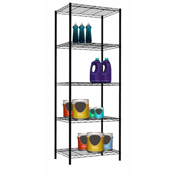 61 H x 21 W 5-Layer Wire Shelving Unit by Home Basics