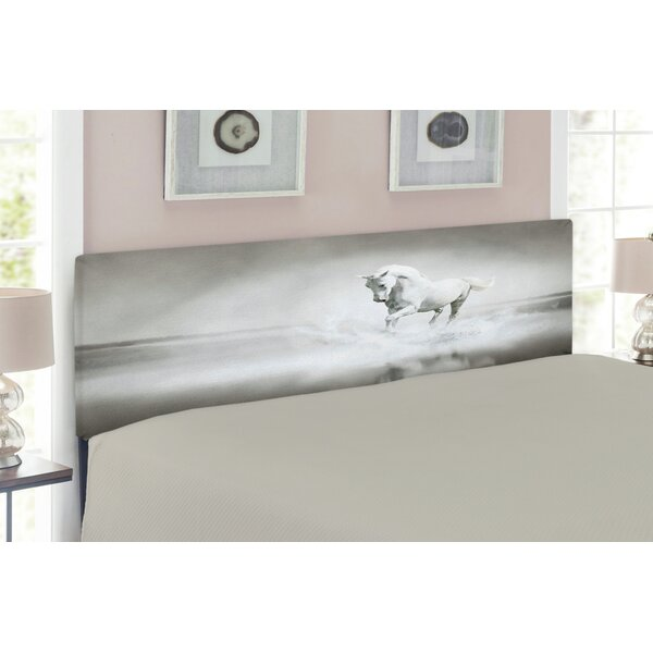 Horses Upholstered Panel Headboard by East Urban Home
