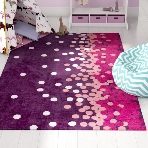 Clive Purple/Pink Area Rug by Harriet Bee