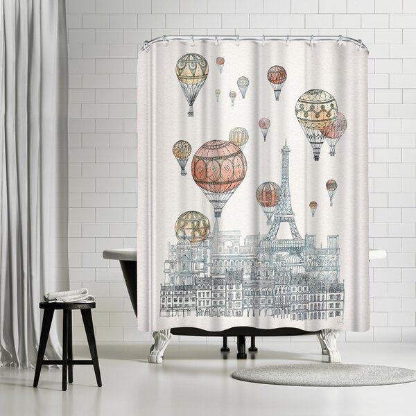 David Fleck Voyages Over Paris Shower Curtain by East Urban Home