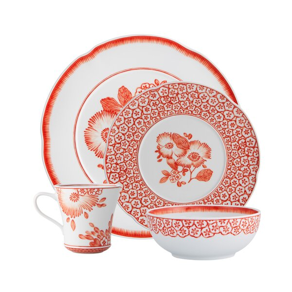 Coralina 4 Piece Place Setting, Service for 1 by Vista Alegre