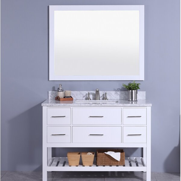 Cliffe 49 Single Bathroom Vanity Set with Mirror by Breakwater Bay