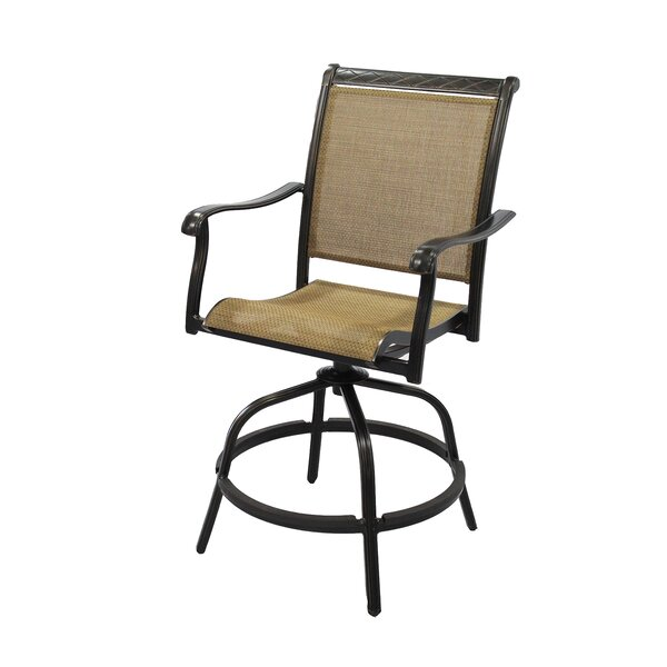 Claverton Swivel Patio Bar Stool by Darby Home Co