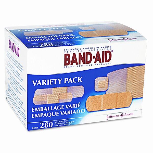Sheer/Wet Adhesive Bandages, 280/Box by BAND-AID
