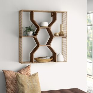 Looking for Nicholas Wooden Honey Comb Floating Shelf By Mistana