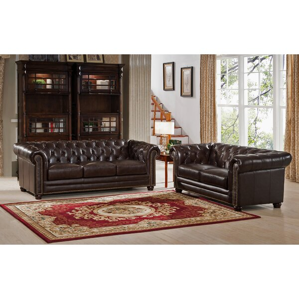 Brittany 2 Piece Leather Living Room Set by 17 Stories