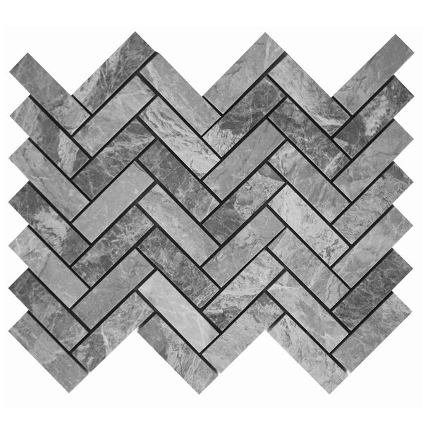 1 x 3 Mosaic Tile in Grigio Fantasia by Ephesus Stones