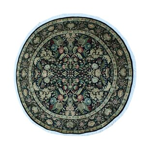 Rode Hand-Knotted Wool Black Area Rug By Astoria Grand