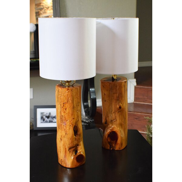 Wayne USA Ozark Made Cedar 24 Table Lamp (Set of 2) by Loon Peak