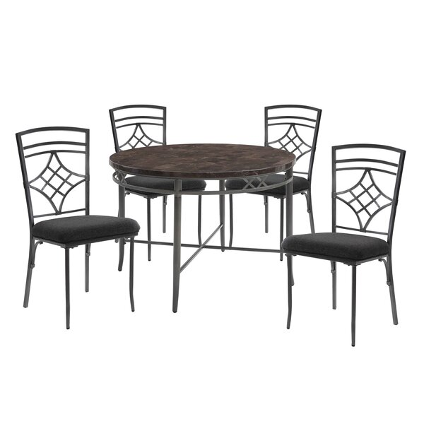 Ceasar 5 Piece Dining Set by Fleur De Lis Living