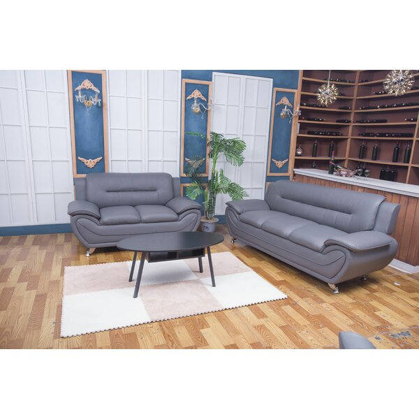 Monica 3 Piece Living Room Set by Orren Ellis
