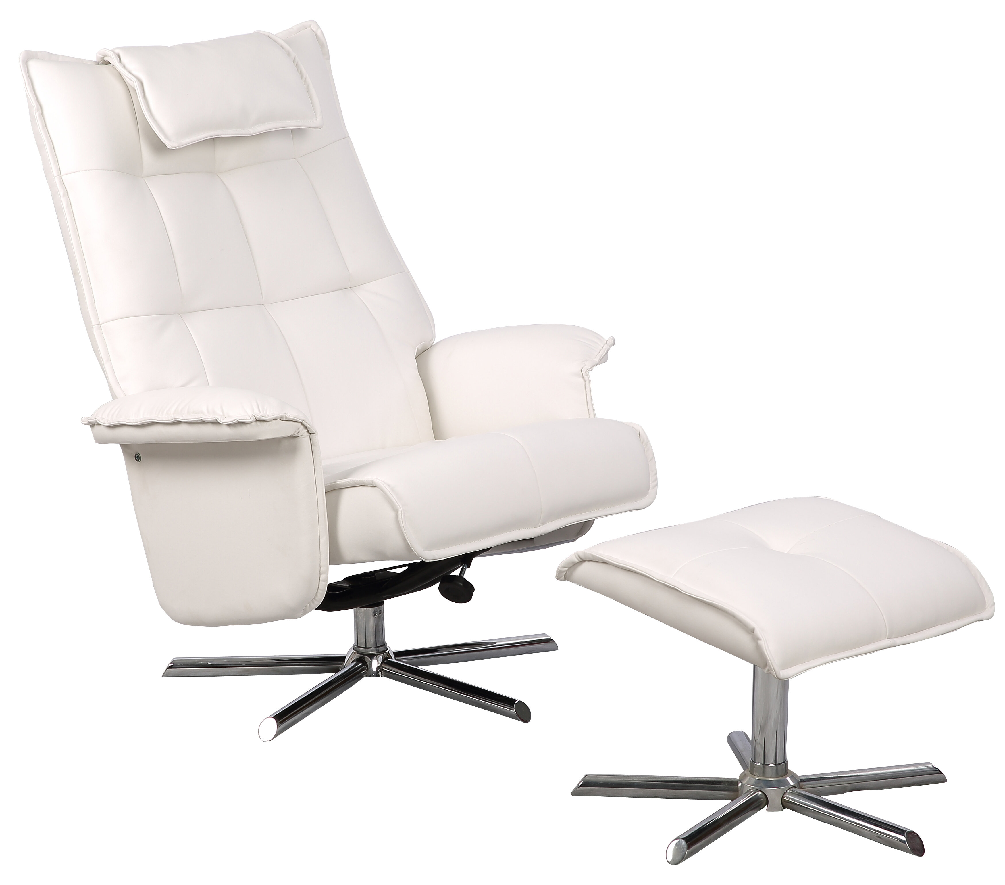 Sensational Finkelstein Manual Swivel Recliner With Ottoman Ncnpc Chair Design For Home Ncnpcorg
