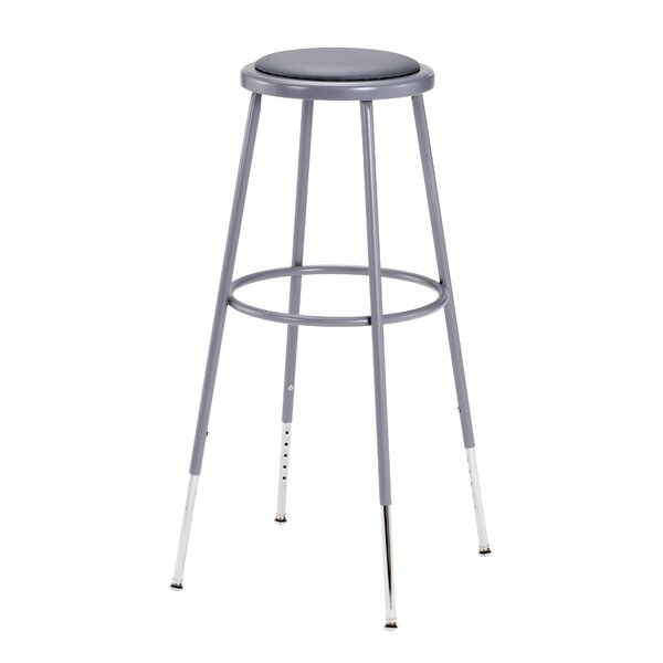 Height Adjustable Stool with Footring by National Public Seating