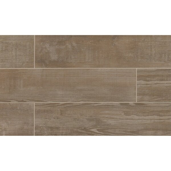 Hamptons 8 x 36 Porcelain Wood Tile in Taupe by Grayson Martin