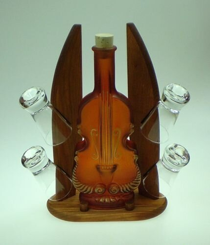 Carafe 5 Piece Contrabass and Shot Glass Set by Womar Glass