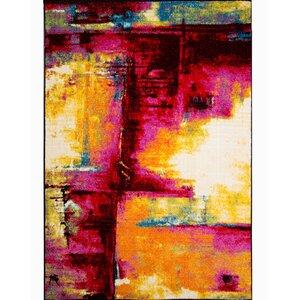 Brannigan Pink/Yellow Area Rug