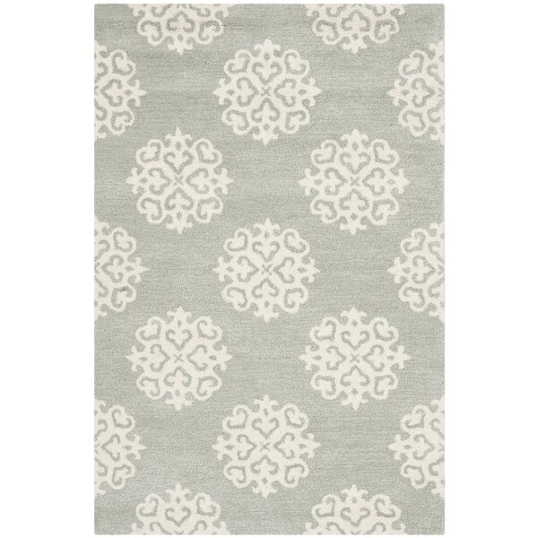 Backstrom Hand-Tufted Gray/Ivory Area Rug by Alcott Hill