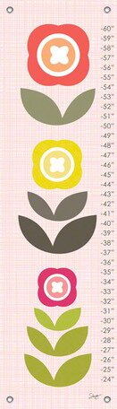 Modern Blooms Growth Chart by Oopsy Daisy